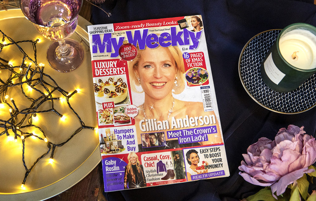 My Weekly bumper issue with Gillian Anderson and luxury desserts