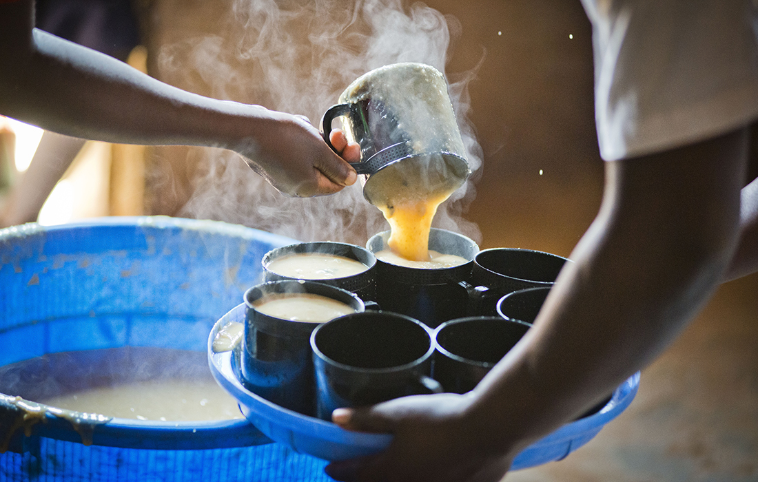 Lunchtime porridge Pic: Chris Watt