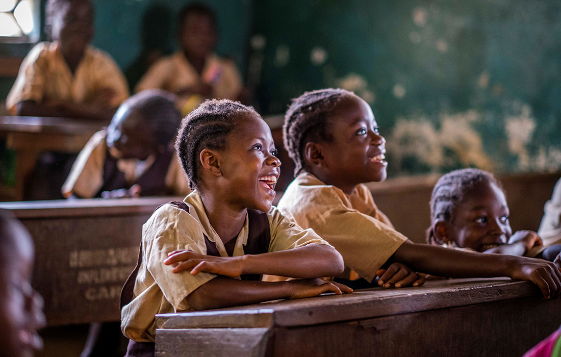 Children in a classroom in Liberia Pic: Chris Watt