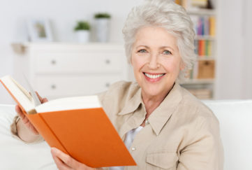 Mature lady reading a book Pic: Shutterstock