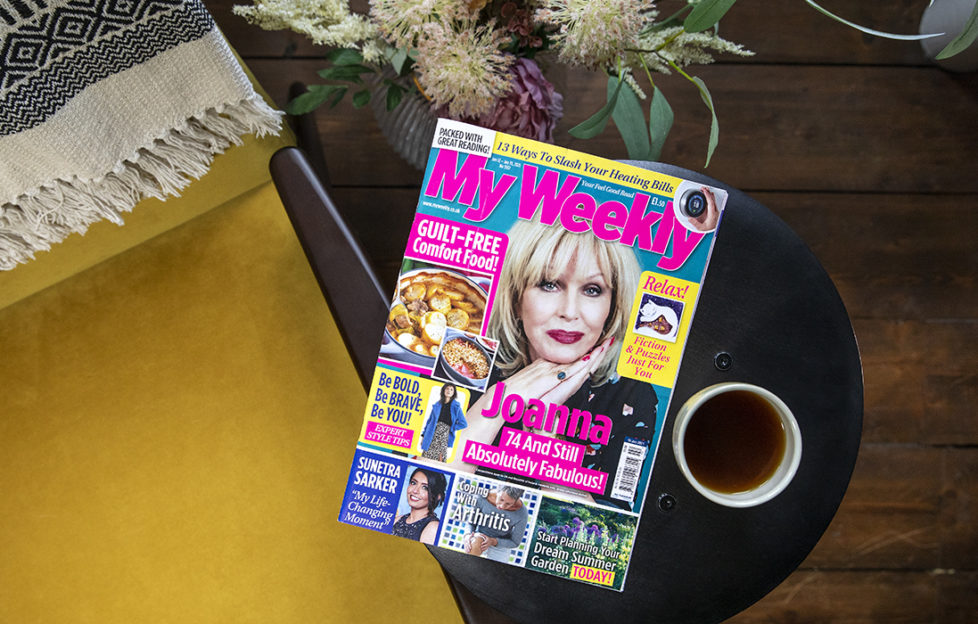Cover of My Weekly latest issue with Joanna Lumley and healthy comfort food
