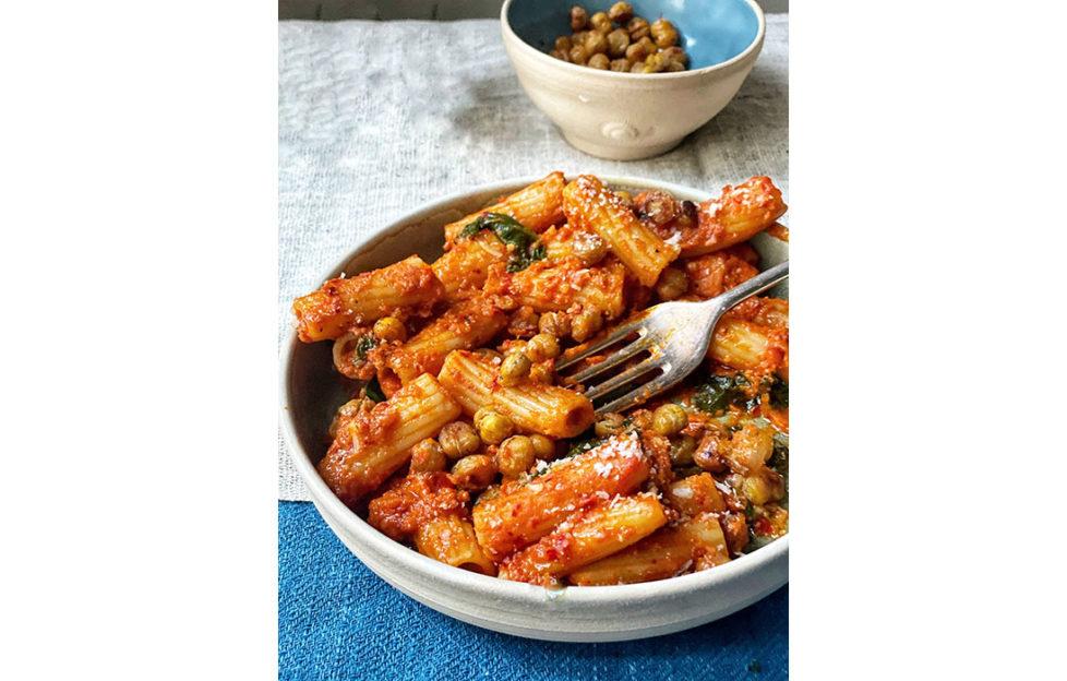 Rigatoni pasta dish