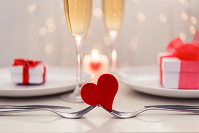 Table set for a romantic meal Pic: Shutterstock