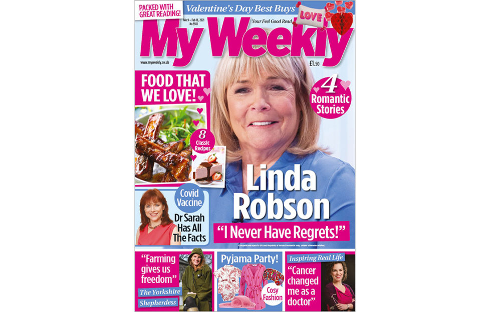 cover of My Weekly latest issue with Linda Robson and well loved recipes