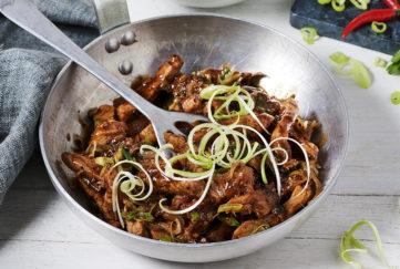 ken hom stir fry dish in wok