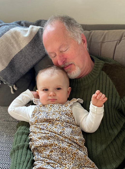 Robin and his granddaughter