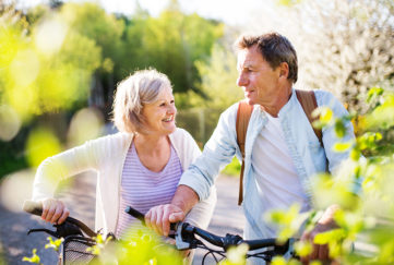 Mature couple cycling Pic: Shutterstock