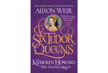 Book cover of The Tainted Queen, with portrait of Katheryn Howard