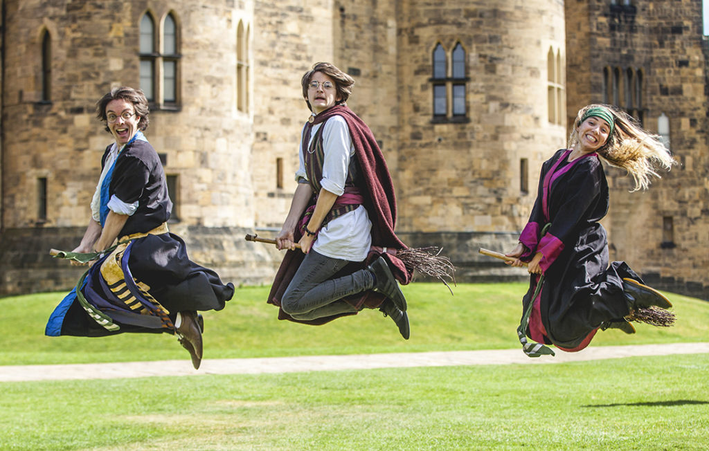 Broomstick training at Alnwick Castle by Sean Elliot