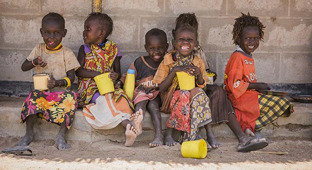 Children in Kenya receiving Mary's Meals support Pic: Chris Watt