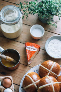 Hot Cross Buns and ingredients