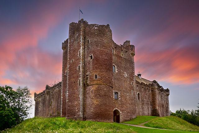 Sunset over Doune Castle, Stirling, Scotland Pic: Shutterstock