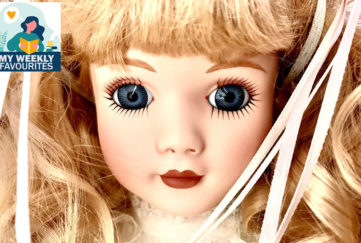 Close up of a Victorian doll;