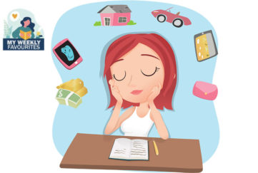 Lady dreaming of cars and houses Illustration: Shutterstock