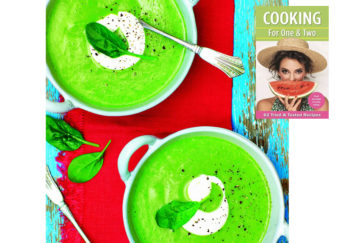 Cookbook cover and soup recipe