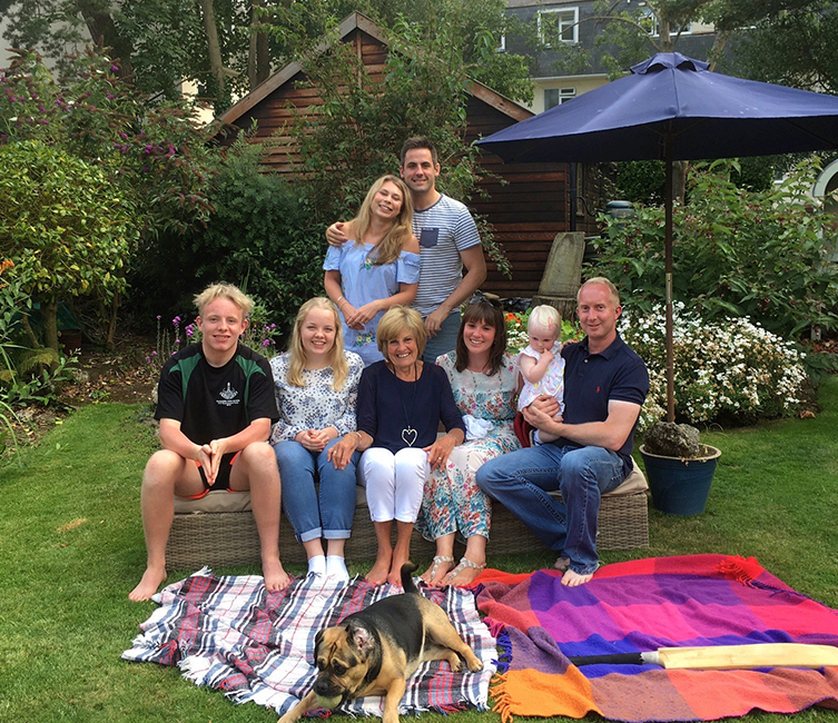 Alison with her family