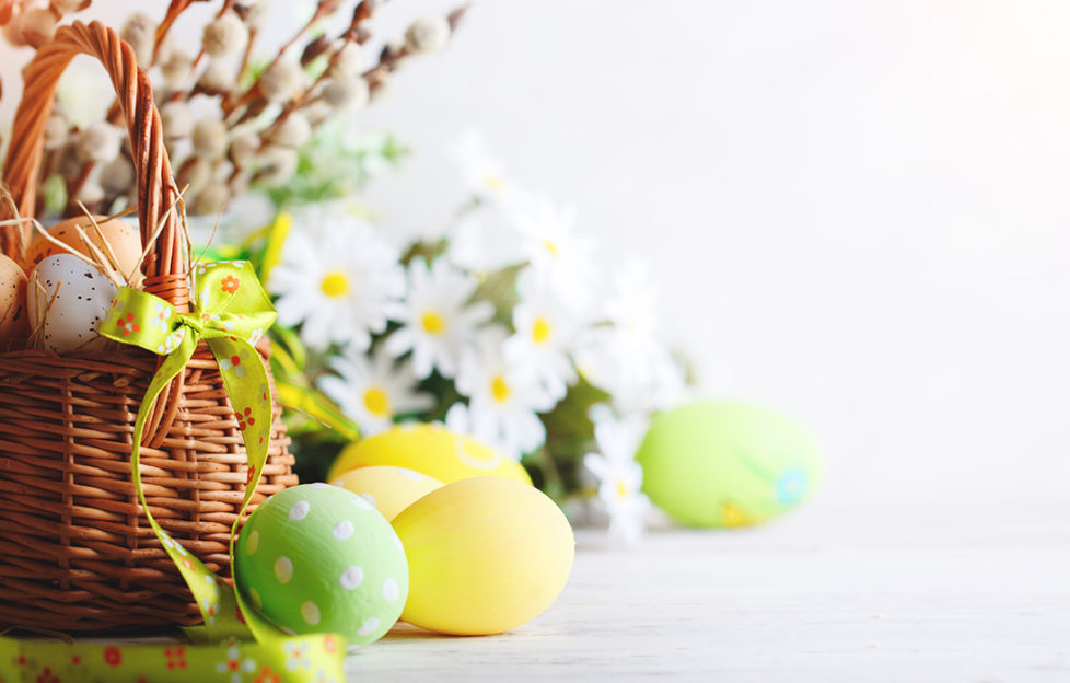 Easter Flowers and Eggs Pic: Shutterstock