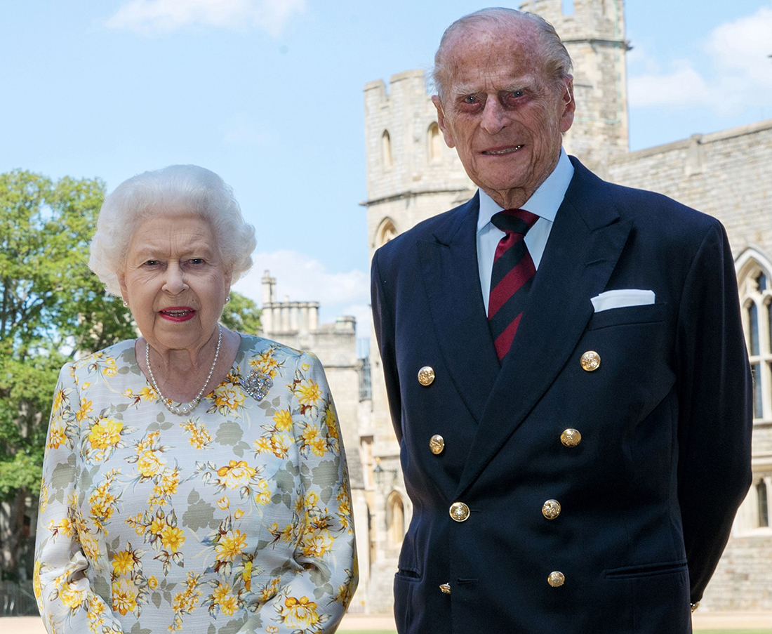 The Queen and Prince Philip at Windsor Castle Pic: Shutterstock