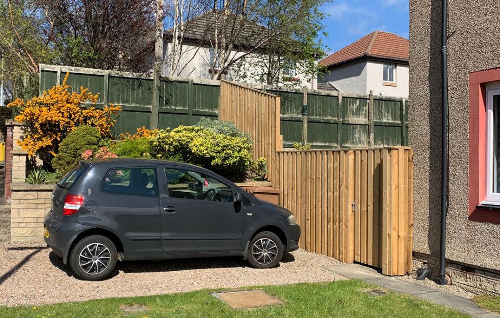 Volkswagen fox in driveway