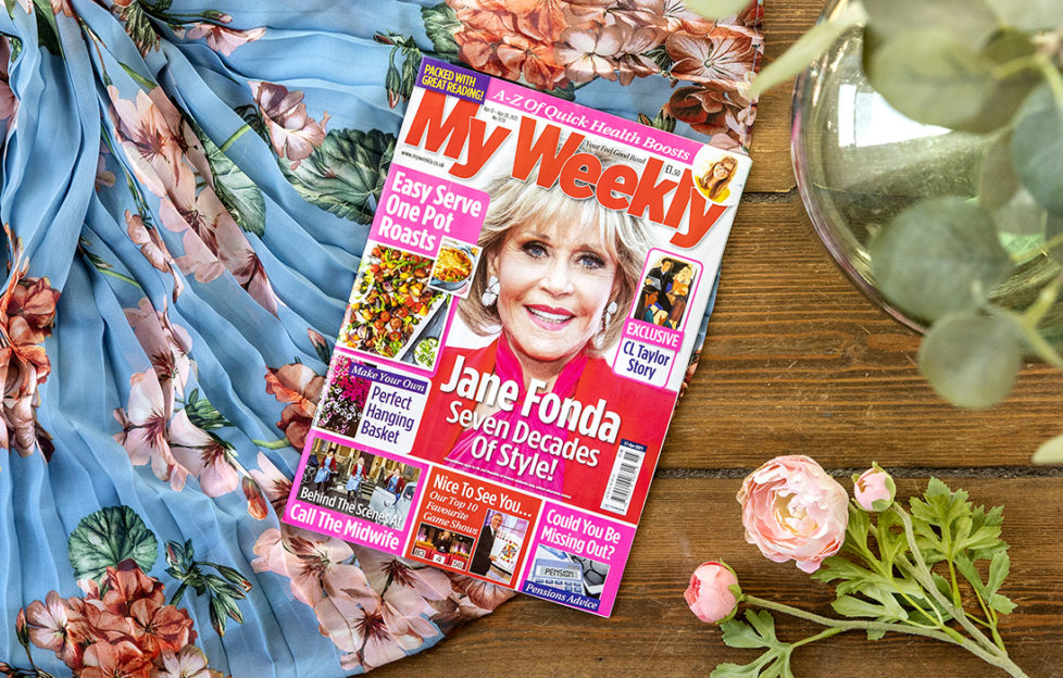 my weekly latest issue with jane fonda and all in one sunday lunches