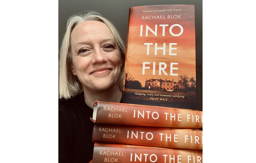 Rachael Blok with her new book