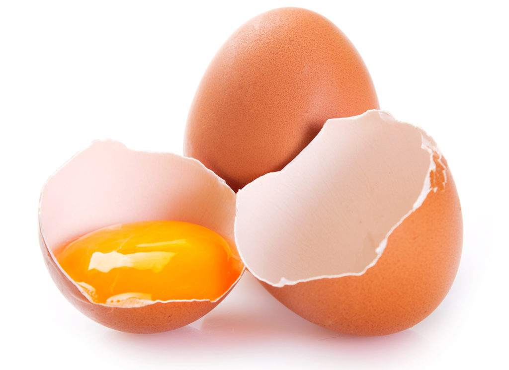 raw eggs isolated on white background;