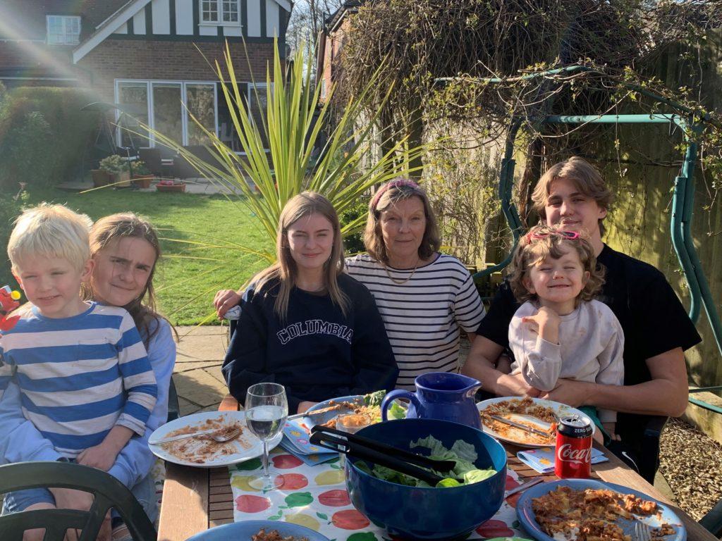 Christina and her grandchildren