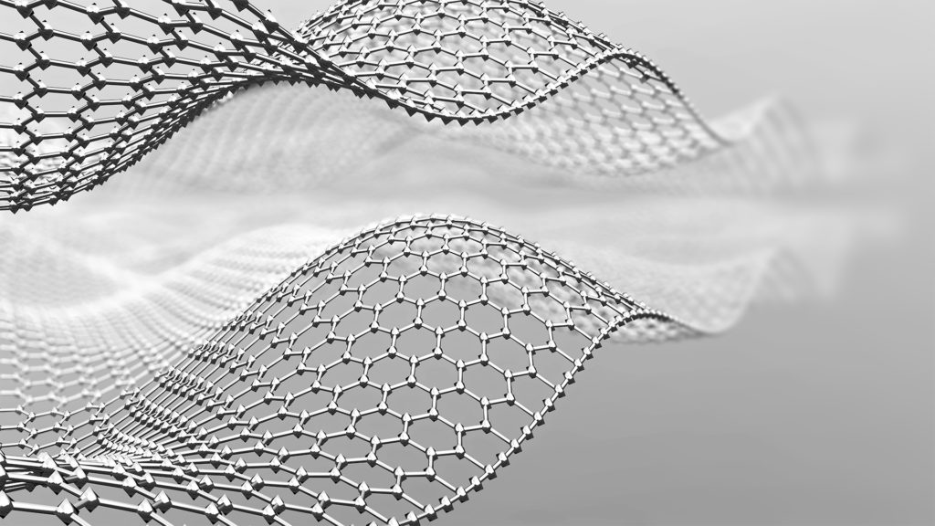Abstract metal mesh in shape of wave. 3d metal mesh consist of hexagons. Graphene molecular grid. Neural network.3d render; School facts that are now wrong