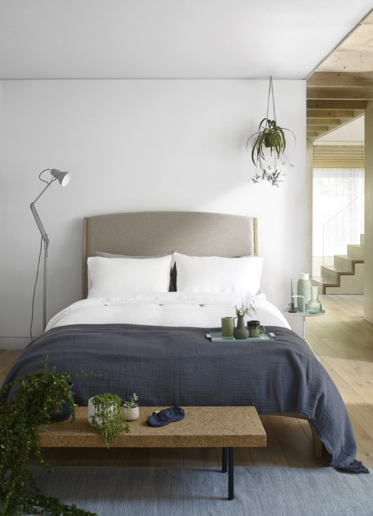 Linen bedding in Classic White, from £40, scooms.