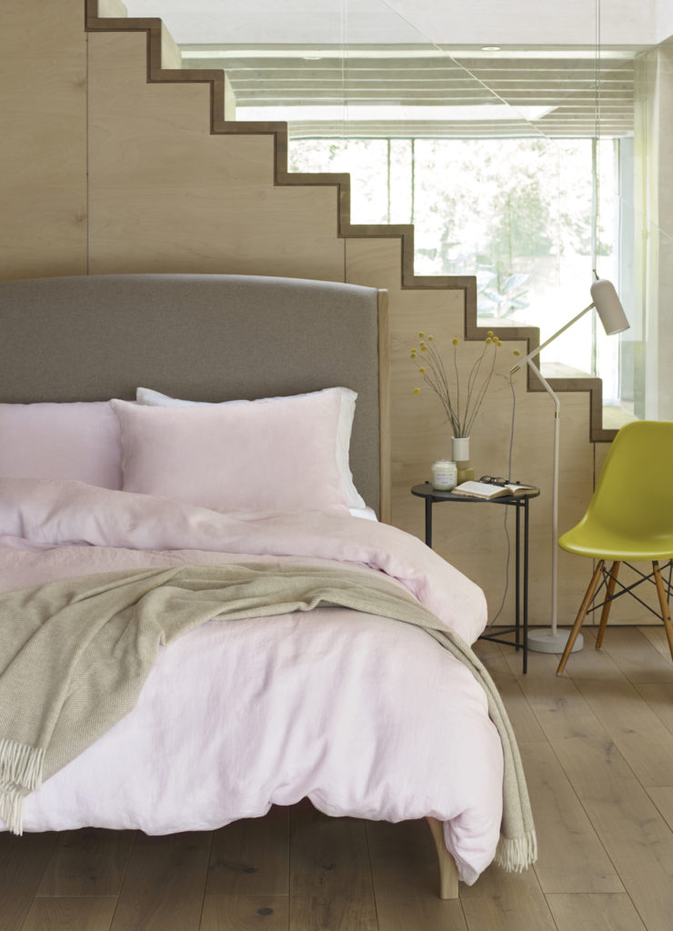 Linen bedding in Soft Pink, from £40, scooms.
