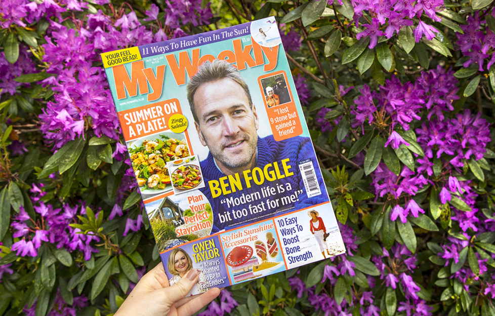 Cover of My Weekly magazine with Ben Fogle and A Plateful of Summer salad recipes