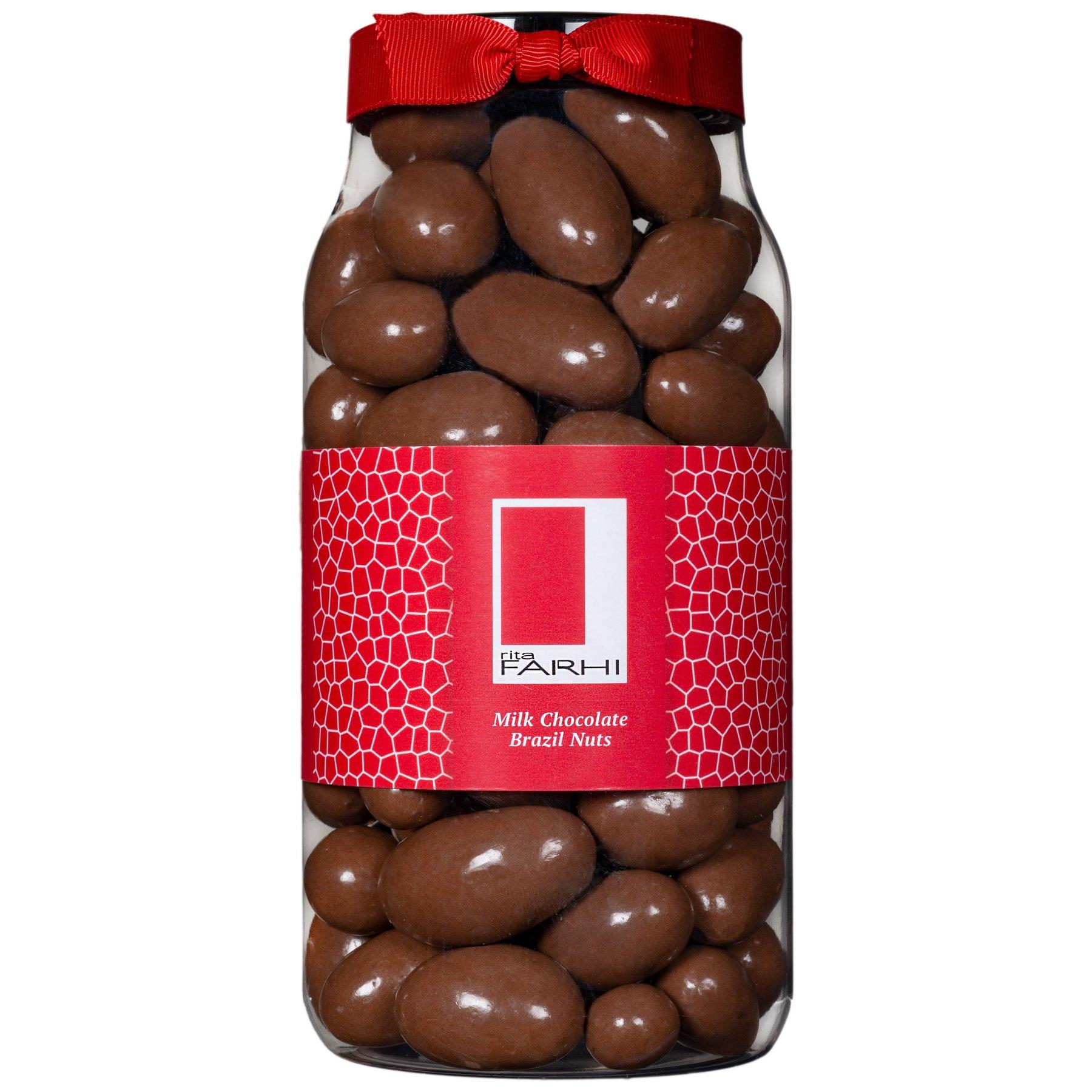 Choc Brazil Nuts in a Jar