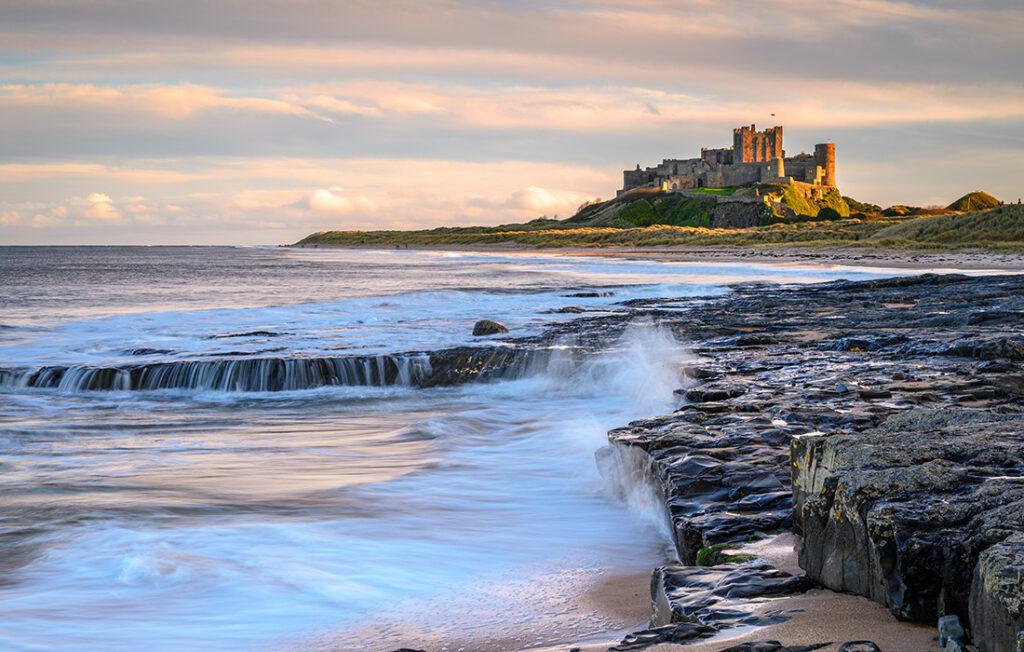 Bamburgh Beach below the Castle Pic; Shutterstock/Dave Head