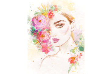Lady with flowers in hair Illustration: Shutterstock