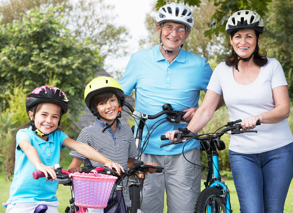 Have fun with the grandkids on bikes Shutterstock / oliveromg