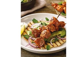 Smoky pork kebabs