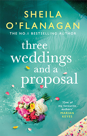 cover of sheila flanagan book three weddings and a proposal