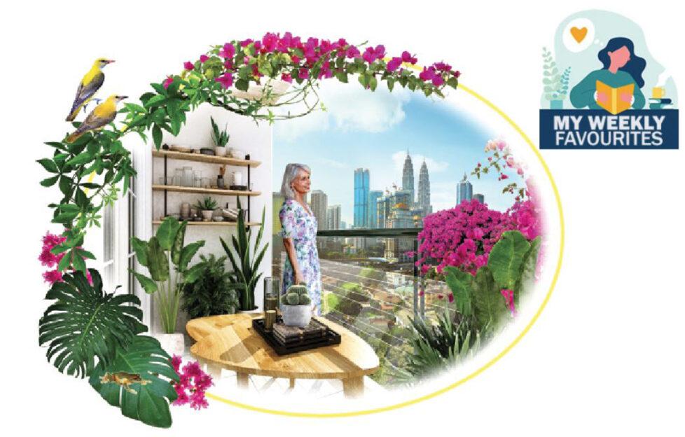 Lady on Balcony Illustration: Mandy Dixon
