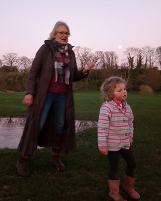 Elaine and her granddaughter