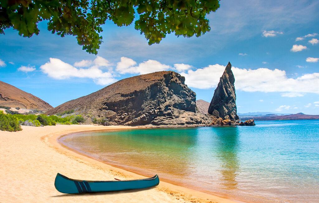 Galapagos Islands. Ecuador. Bartolome Island. Pinnacle Rock. Pic: Shutterstock