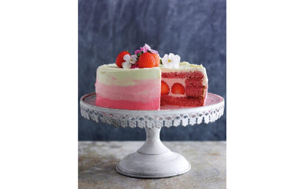 Strawberry Chiffon Cake