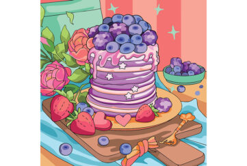 Huge wonky cake with fruit on top Illustration: Shutterstock