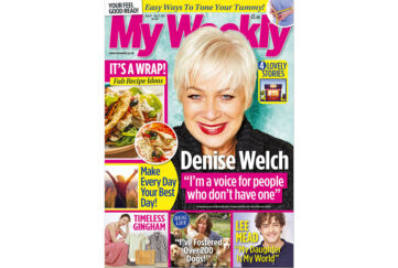 Cover of My Weekly latest issue August 10 with Denise Welch and wraps recipes