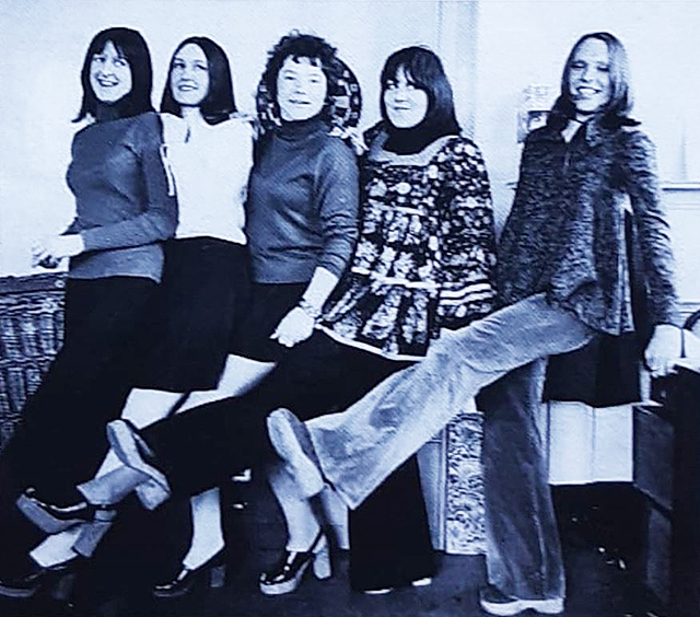 Dorothy, Marilyn, Sandy, Nina and Alison in the office