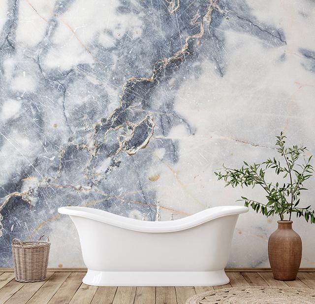Marble look wallpaper