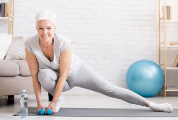 Mature woman with small dumbells Pic: Shutterstock