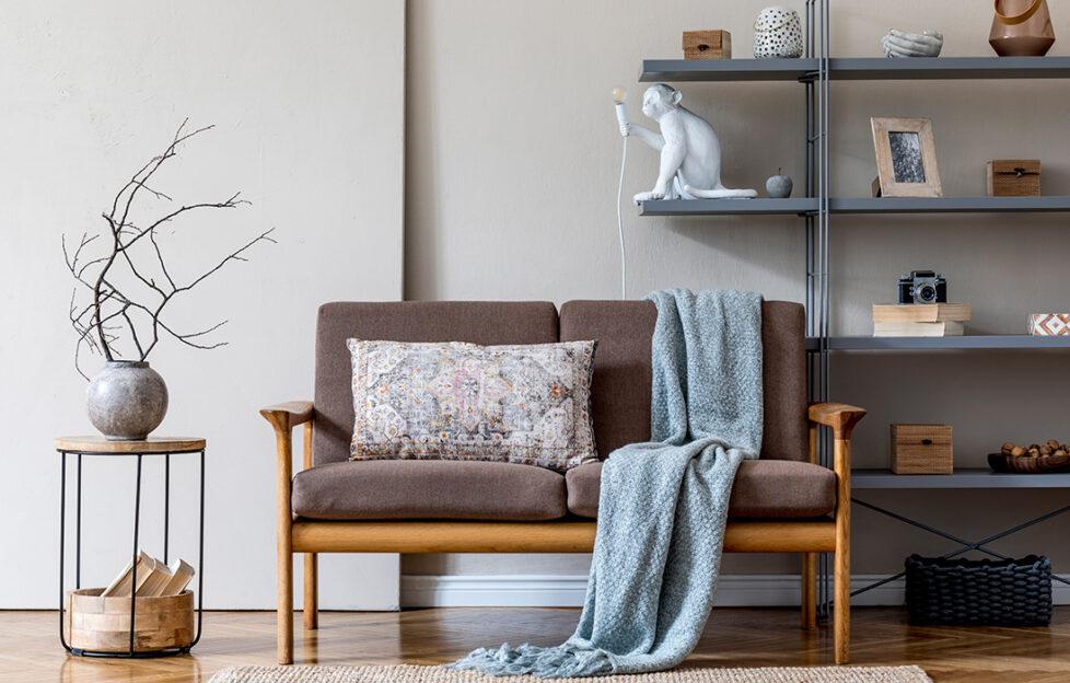 Japandi living room and soft furnishings Pic: Shutterstock