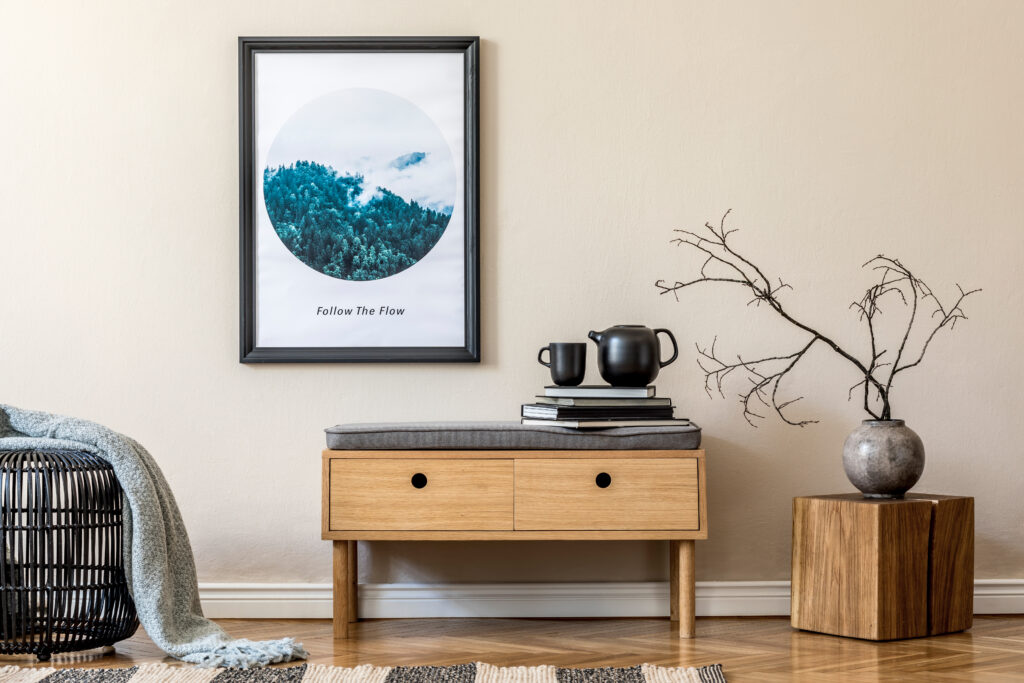 Wooden furniture in living room Pic: Shutterstock