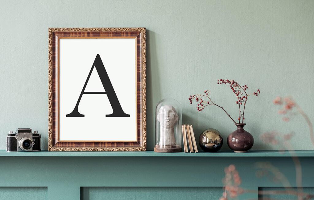 Interior of living room, soft greens Pic: Shutterstock