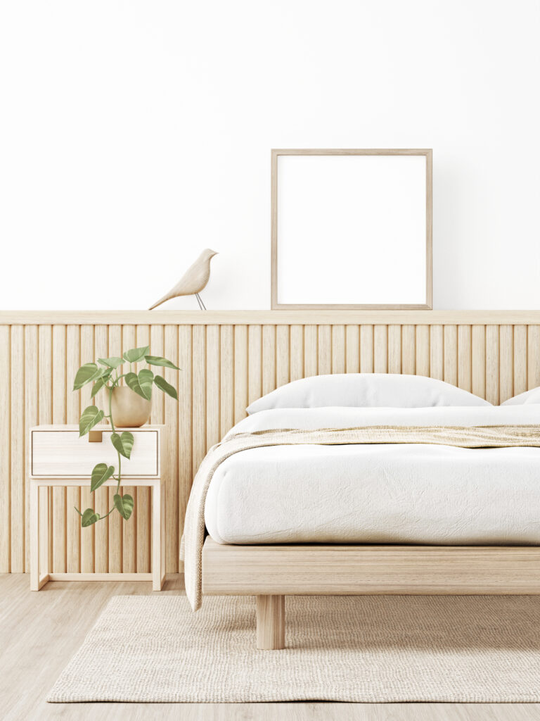 Bedroom in Japandi Style Pic: Shutterstock